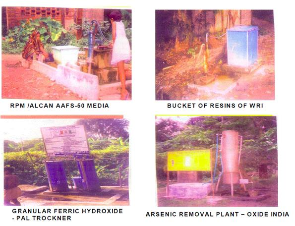 Examples of Arsenic removal units (ARU)excuted in West bengale_India