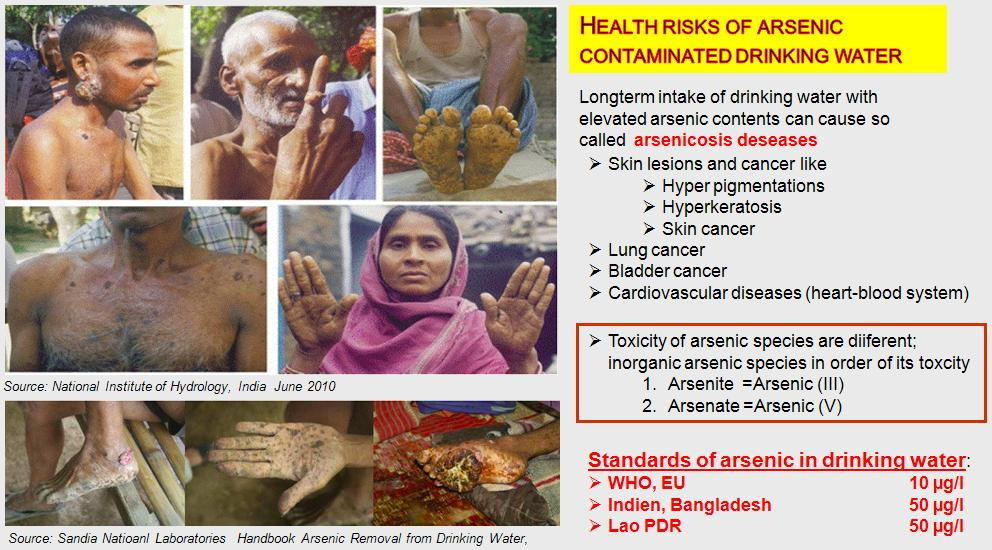 Health risks of arsenic contamination
